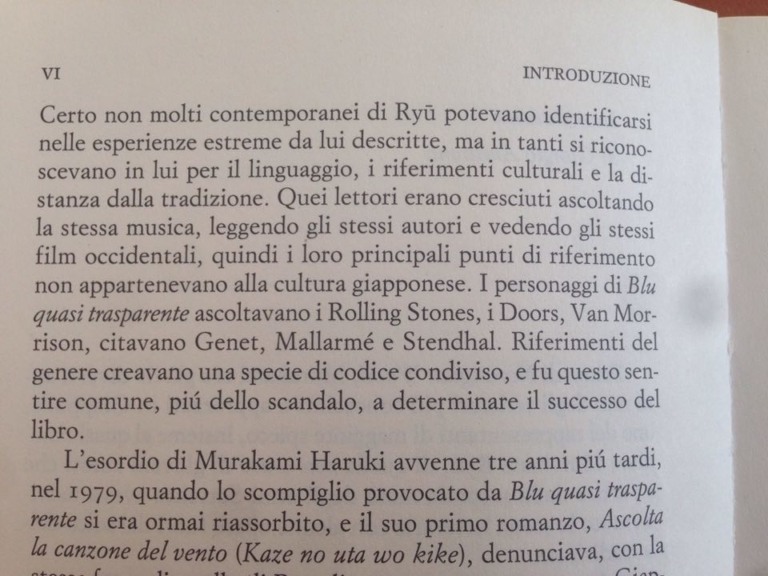 LIA CECCHIN H. Murakami, Norwegian Wood. Tokyo Blues, Torino, Einaudi, 2013